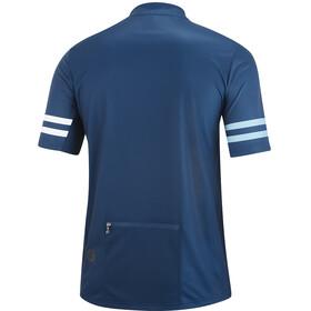 Gonso Agno Fietsshirt Korte Mouwen Doorlopende Rits Heren, insignia blue